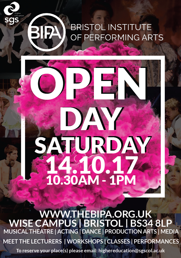 BIPA Open Day flyer