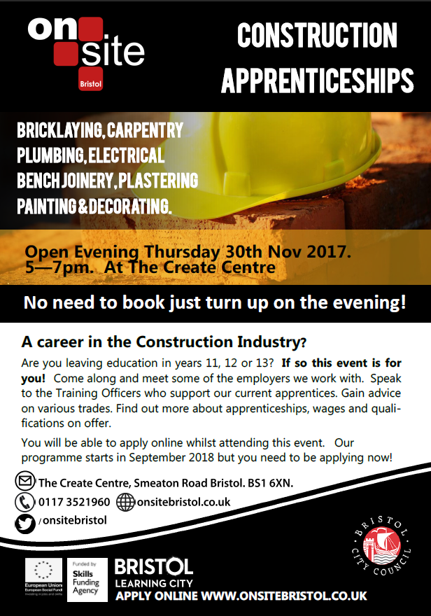 Onsite Open Evening poster